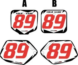 Honda CR500 1991-2001 Pre-Printed Backgrounds White - Black Shock - Red Number by FactoryRide
