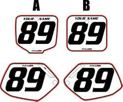 Honda CR500 1991-2001 Pre-Printed Backgrounds White - Red Pro Pinstripe by FactoryRide