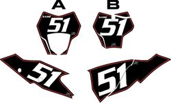 2021 Gas Gas 125-450 Black Pre-Printed Backgrounds - Red Pinstripe by FactoryRide