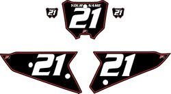 2021 Honda CRF450 Black Pre-Printed Backgrounds - Red Pinstripe by FactoryRide