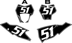 2021 Gas Gas 125-450 Black Pre-Printed Backgrounds - White Pinstripe by FactoryRide