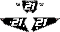 2021 Honda CRF450 Black Pre-Printed Backgrounds - White Pinstripe by FactoryRide