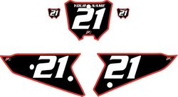 2021 Honda CRF450 Black Pre-Printed Backgrounds - Red Bold Pinstripe by FactoryRide