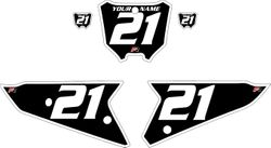 2021 Honda CRF450 Black Pre-Printed Backgrounds - White Bold Pinstripe by FactoryRide