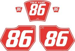 1985-1986 HUSQVARNA TE250 Red Pre-Printed Backgrounds - White Pinstripe by FactoryRide