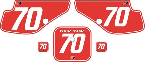1997-2000 Honda XR70 Red Pre-Printed Backgrounds - White Pinstripe by FactoryRide