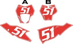 2021 Gas Gas 125-450 Red Pre-Printed Backgrounds - White Pinstripe by FactoryRide
