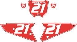 2021 Honda CRF450 Red Pre-Printed Backgrounds - White Pinstripe by FactoryRide