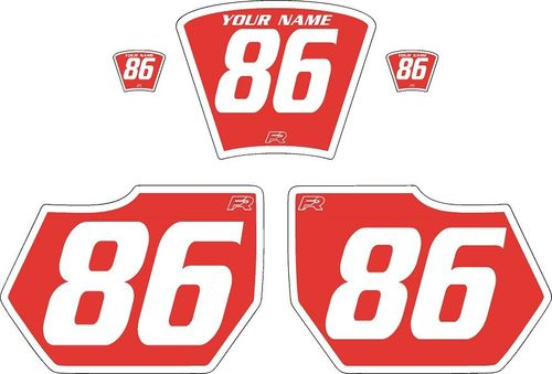 1985-1986 HUSQVARNA TE250 Red Pre-Printed Backgrounds - White Bold Pinstripe by FactoryRide