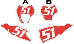 2021 Gas Gas 125-450 Red Pre-Printed Backgrounds - White Bold Pinstripe by FactoryRide