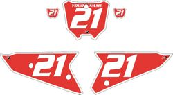 2021 Honda CRF450 Red Pre-Printed Backgrounds - White Bold Pinstripe by FactoryRide