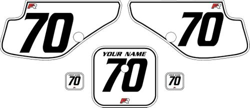 1997-2000 Honda XR70 White Pre-Printed Backgrounds - Black Pinstripe by FactoryRide