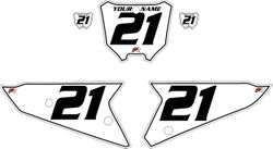 2021 Honda CRF450 White Pre-Printed Backgrounds - Black Pinstripe by FactoryRide