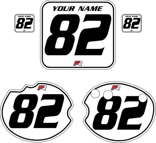 1982 Honda CR480 DC PLASTICS White Pre-Printed Backgrounds - Black Pinstripe by FactoryRide