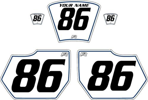 1985-1986 HUSQVARNA TE250 White Pre-Printed Backgrounds - Blue Pinstripe by Factory Ride