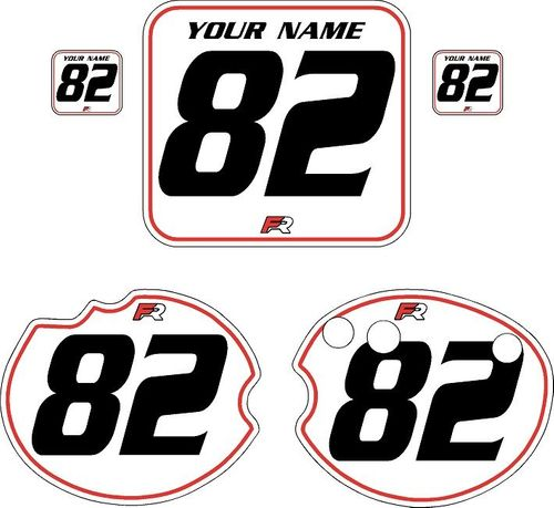 1982 Honda CR250 DC PLASTICS White Pre-Printed Backgrounds - Red Pinstripe by Factory Ride