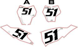 2021 Gas Gas 125-450 White Pre-Printed Backgrounds - Red Pinstripe by FactoryRide