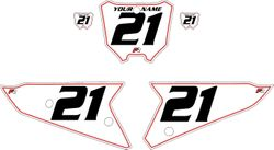 2021 Honda CRF450 White Pre-Printed Backgrounds - Red Pinstripe by Factory Ride