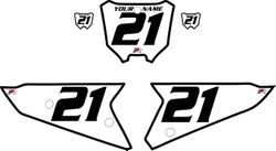 2021 Honda CRF450 White Pre-Printed Backgrounds - Black Bold Pinstripe by FactoryRide