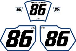 1985-1986 HUSQVARNA TE250 White Pre-Printed Backgrounds - Blue Bold Pinstripe by Factory Ride