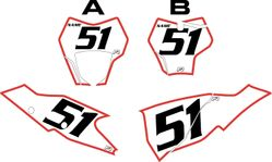 2021 Gas Gas 125-450 White Pre-Printed Backgrounds - Red Bold Pinstripe by FactoryRide
