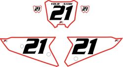 2021 Honda CRF450 White Pre-Printed Backgrounds - Red Bold Pinstripe by Factory Ride