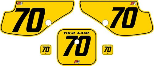 1997-2000 Honda XR70 Yellow Pre-Printed Backgrounds - Black Pinstripe by FactoryRide