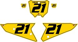 2021 Honda CRF450 Yellow Pre-Printed Backgrounds - Black Pinstripe by FactoryRide