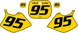 Yamaha YZ250 1993-1995 Yellow Pre-Printed Backgrounds - Black Pinstripe by FactoryRide