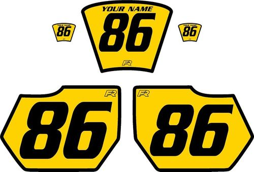 1985-1986 HUSQVARNA TE250 Yellow Pre-Printed Backgrounds - Black Bold Pinstripe by FactoryRide