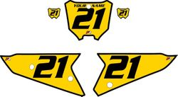 2021 Honda CRF450 Yellow Pre-Printed Backgrounds - Black Bold Pinstripe by FactoryRide