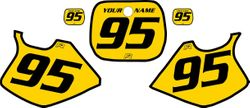 Yamaha YZ250 1993-1995 Yellow Pre-Printed Backgrounds - Black Bold Pinstripe by FactoryRide