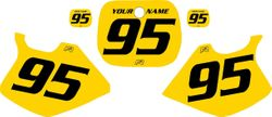 Yamaha YZ250 1993-1995 Yellow Pre-Printed Backgrounds - Black Numbers by FactoryRide