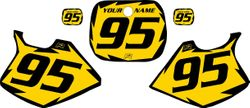 Yamaha YZ250 1993-1995 Yellow Pre-Printed Backgrounds - Black Shock by FactoryRide