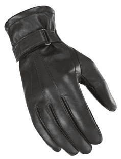 Joe-Rocket - Ladies Gear - Ladies Jet Black Lined Glove in Black