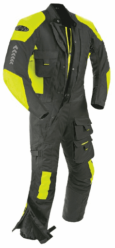 Joe Rocket - Mens Gear - Survivor Suit in Black / Hi-Viz Neon
