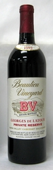 1985 Beaulieu Vineyard Georges de Latour Private Reserve Cabernet