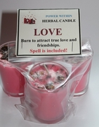 Love Herbal Spell Candle