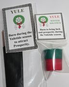 Yule Candle and Incense