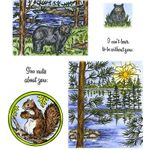 Bear, Pine & Island Cling Mount Stamp Set