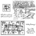 Bird, Mailbox, Cabin and Stream Cling Mount Stamp Set
