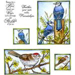 Blue Jay & Sparrow Cling Mount Stamp Set