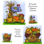 Cornstalk Mailbox & Basket Cling Mount Stamp Set
