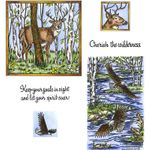 Deer & Eagle Cling Mount Stamp Set