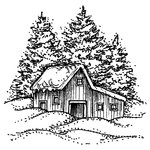 Farm Shed and Pines MM10537