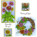 Gerbera Cling Mount Stamp Set