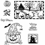 Haunted House and Jack Cling Mount Stamp Set