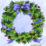 Holly and Pine Wreath - PP10679