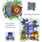 Holly Ornaments & Mailbox Cling Mount Stamp Set