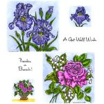 Iris & Rose Cling Mount Stamp Set